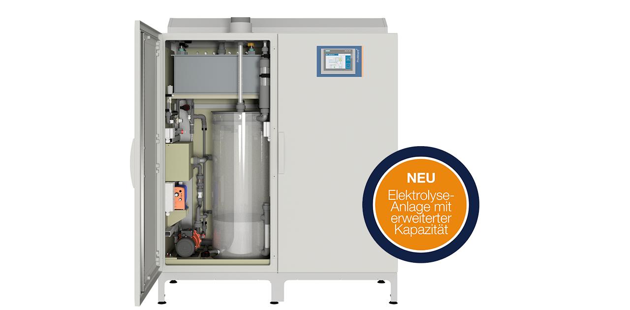 Elektrolyse Wasser mit CHLORINSITU IIa